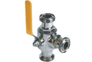There-Way Ball Valve With Threaded Connection