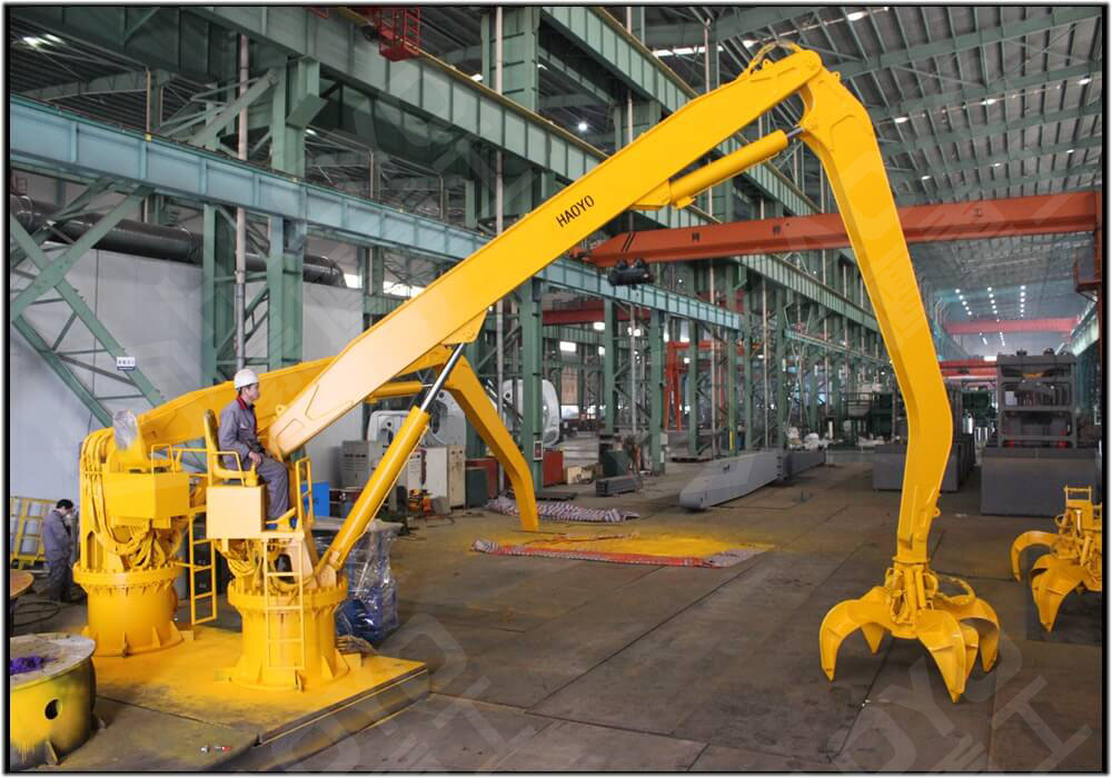 HAOYO-Two Sets 2T-12M Scrap Handling Crane  to be delivered to Indonesia