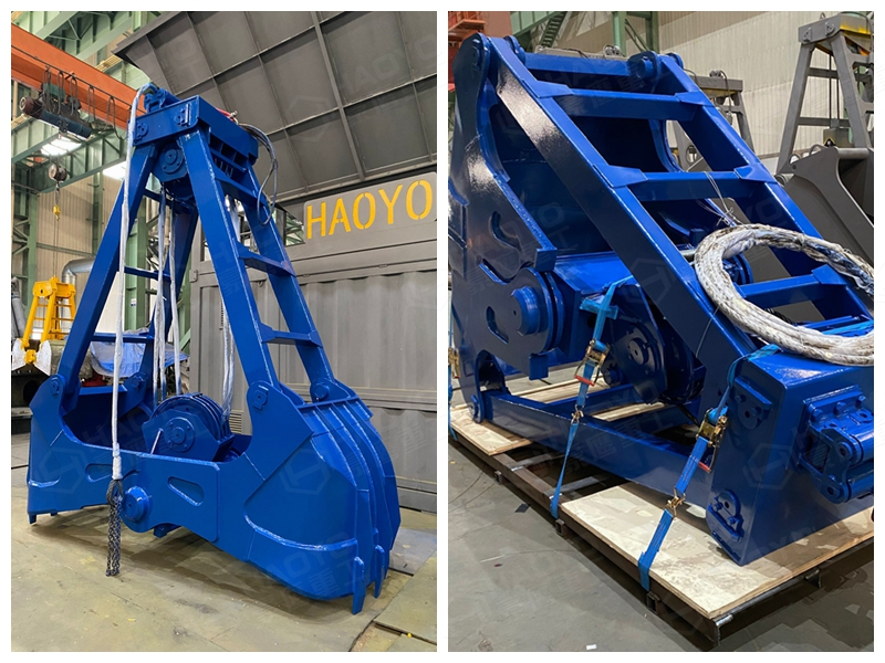 Double Ropes Dredging Grab Bucket
