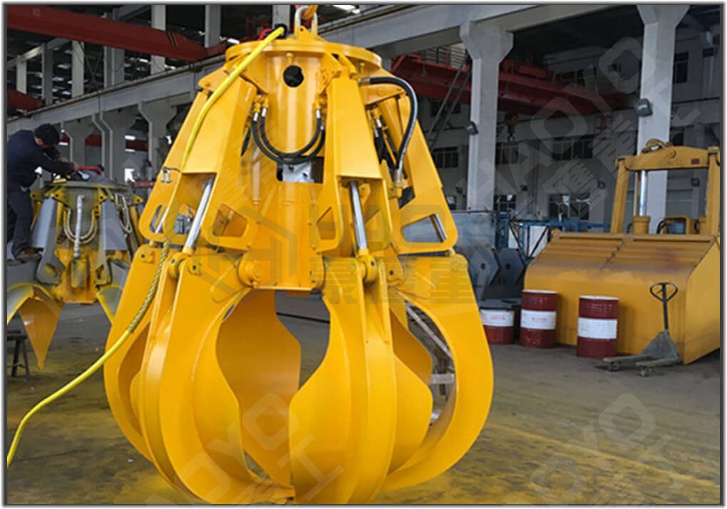 WASTE LOADING ORANGE PEEL HYDRAULIC GRAB