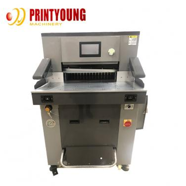 FN-H520T V7 Automatic Hydraulic Guillotine toilet paper roll Cutting machine for paper  pizza Eyelash box and paper board