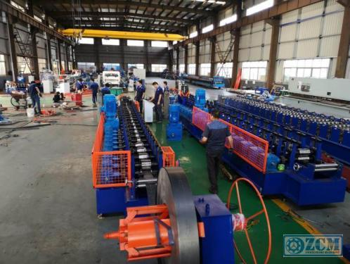 A shape and L shape roll forming machine with welding line