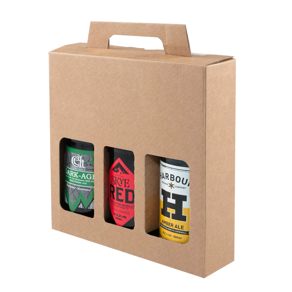 Kraft Printing 3 Pack Box