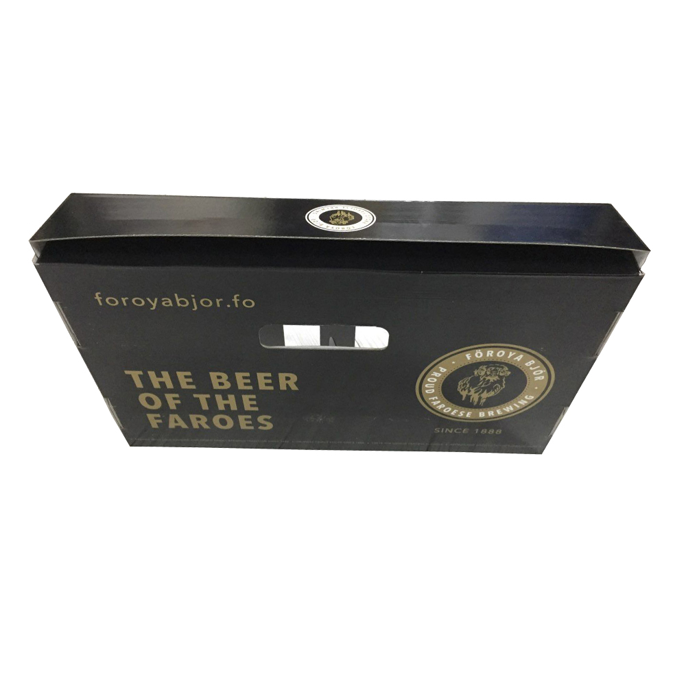 Corrugated Cardboard Six Pack Beer Bottle Holder Box With Window