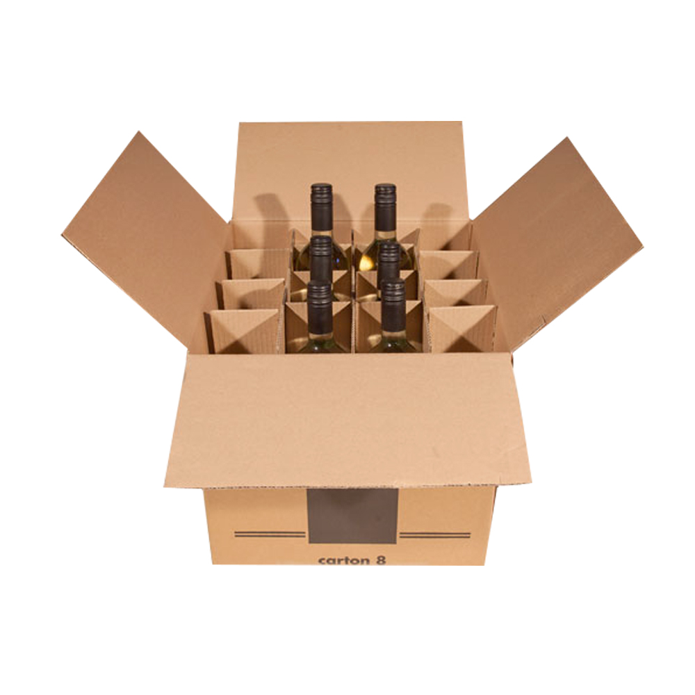24 Bottles Cardboard Box With Dividers For Sale Coffe