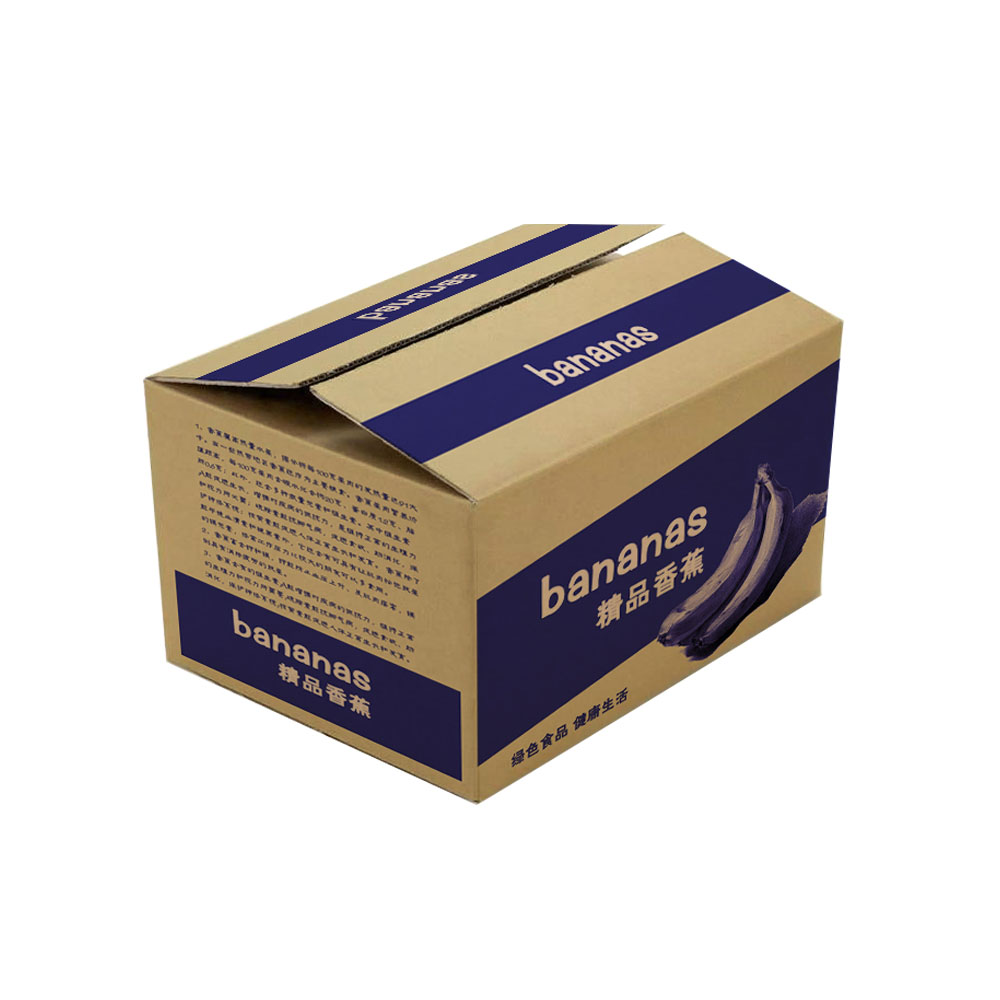 Custom manufacturers packing carton corrugated shipping fruit banana box
