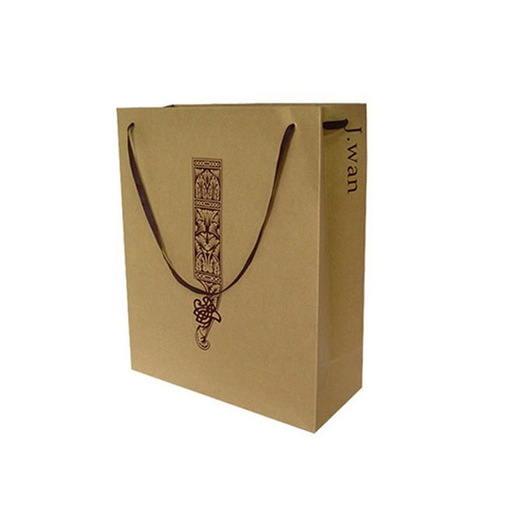Custom Matte Colored Paper Bag For Gift Packaging