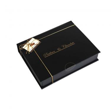 Glossy Black Chocolate Gift Box