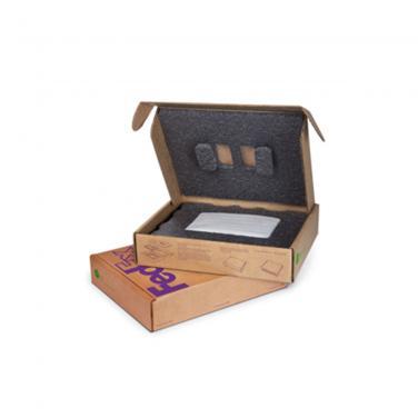 Folding cardboard cell phone packaging carton box
