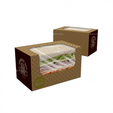 Sandwich Box With PVC Window