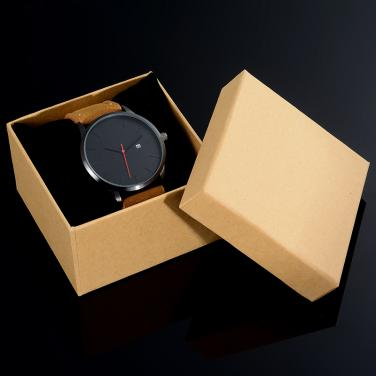 Natural brown watch gift packing box