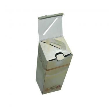 White Corrugated Packaging Paper Box One Pack For Wine Packaging