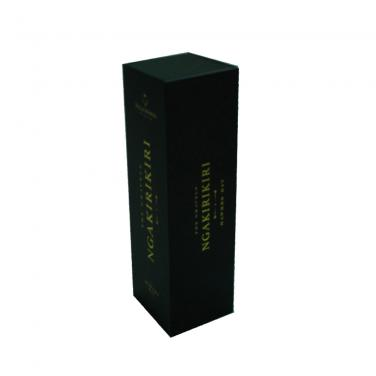 Black Printing One Pack Wine Packaging Box With Hot Foil