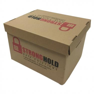 Paper archive Box with lid and logo printing