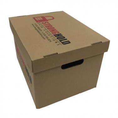 Custom size corrugated archive paper box