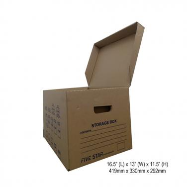 Corrugated document storage box for office using