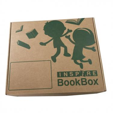 Custom logo printed corrugated paper notebook box