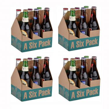 Six Pack Beer Packaging Box For Wholesale