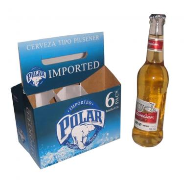 Custom Printing Six Pack Beer Box With Handle