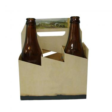 Corrugated Cardboard Custom Printing Six Pack Beer Box