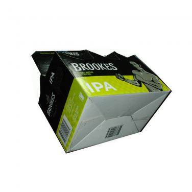 Glossy Varnishing Cardboard Six Pack Beer Box