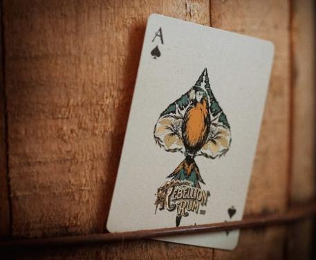Fancy design poker play card