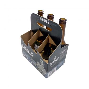 Custom Printing 6 Pack Bottles Corrugated Wine Carrier Box