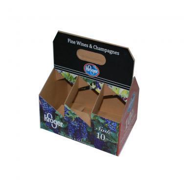 Kraft 6 Bottle Wine Packing Carrier Box For Gift