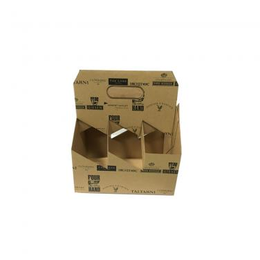 Factory Price Corrugated Cardboard Wine Carrier Box