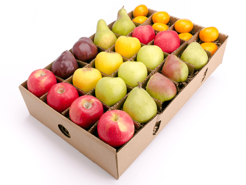 Hard duty apple paper packing box