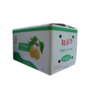 Pear packaging cardboard box with custom design