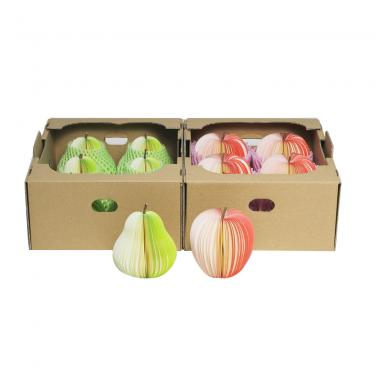 Cardboard box 3-Layer B-Flute Offset Pear Gift Box