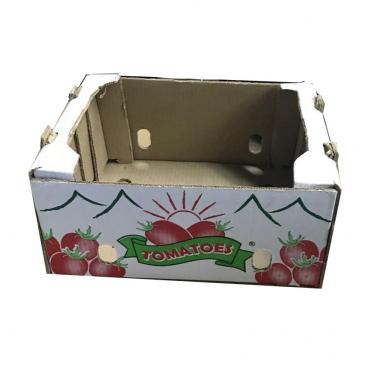 Custom Made Corrugated Paper Tomato Packaging Box