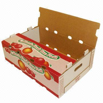 Custom made corrugated tomato packaging