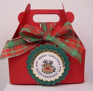 Custom Christmas handle packing box