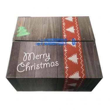 Customized corrugated Christmas gift shipping box