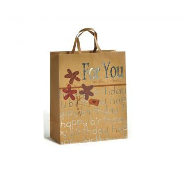 Customized Logo Hot Stamping Paper Gift Bag