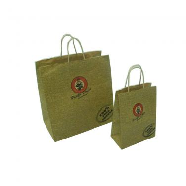 Hot Sale Brown Kraft Paper Handle Gift Bags