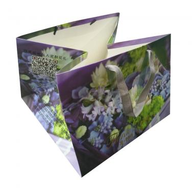 Full Color Paper Bag for Flower