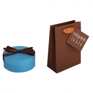 Blue cylinder packing box for gift