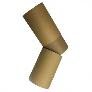 Custom brown kraft cardboard paper tube with lid