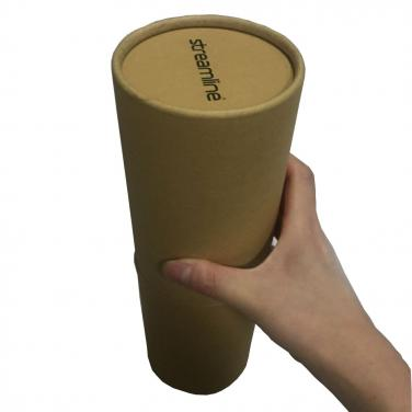 Customized brown round paper tube with logo printing