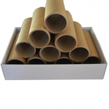 Brown round paper tube without printing