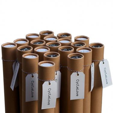 Brown recyclable custom paper tubes