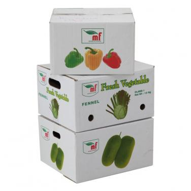 Offset printed vegetable shipping box
