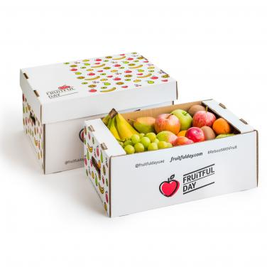 Custom logo printed corrugated fruit packing box