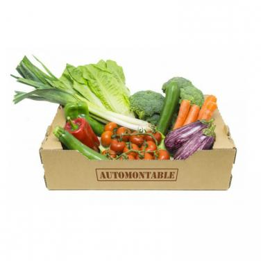 Natural brown kraft fruit and vegetable box
