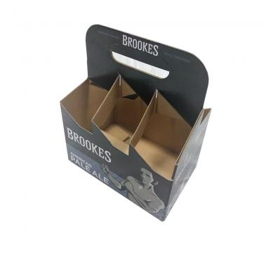 Custom 6 Pack Cardboard Wine Bottle Carrier Box