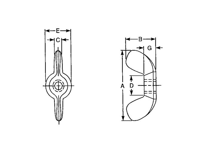 Wing Nut Type A B - ASTM B18.6.X