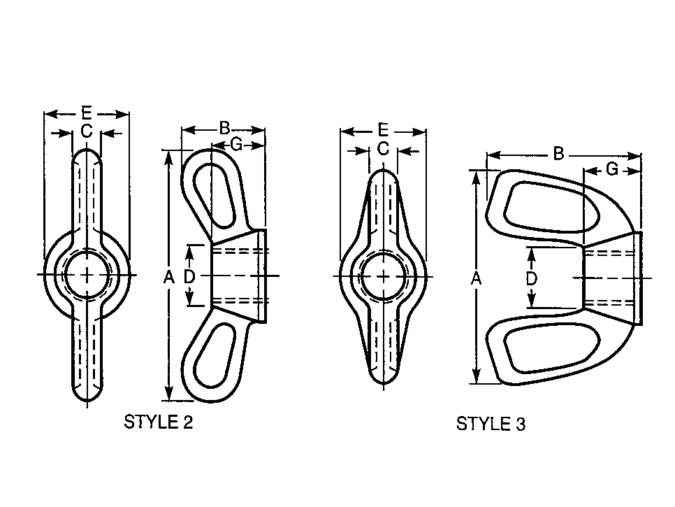 Wing Nut Type C D - ASTM B18.6.X
